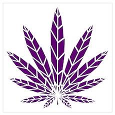 Purple Leaf Poster