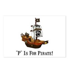 P Is For Pirate Postcards (Package of 8)