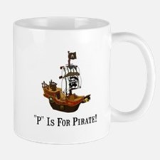 P Is For Pirate Mug
