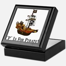 P Is For Pirate Keepsake Box