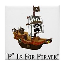 P Is For Pirate Tile Coaster