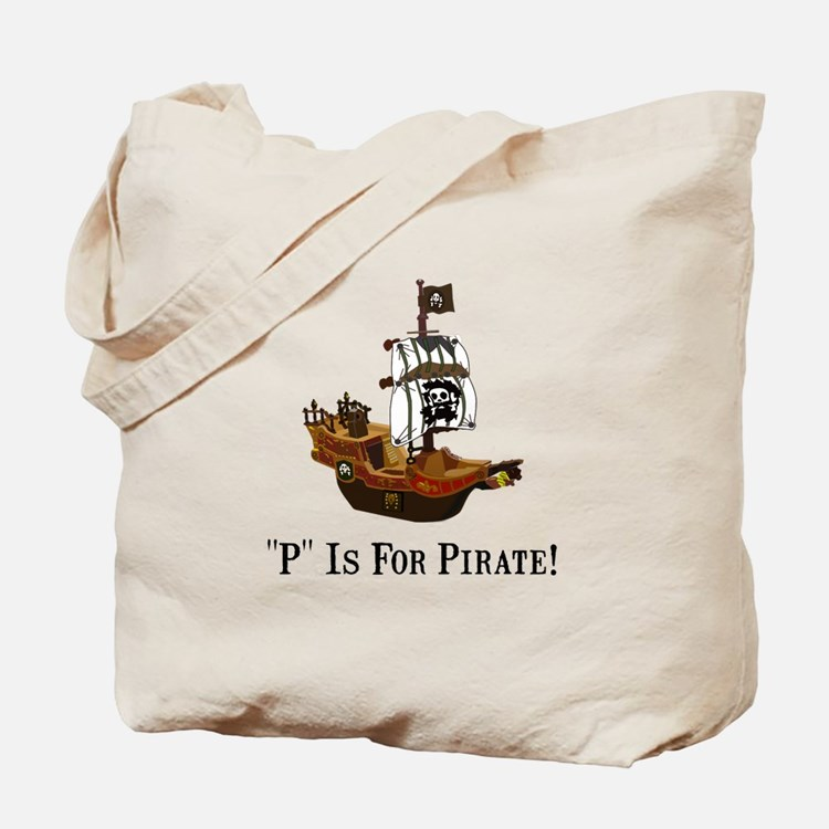 P Is For Pirate Tote Bag