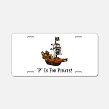 P Is For Pirate Aluminum License Plate