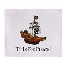 P Is For Pirate Throw Blanket