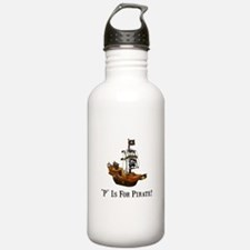 P Is For Pirate Water Bottle