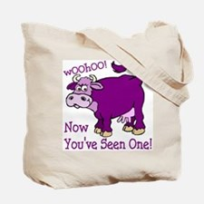 Purple Cow / Poem Tote Bag
