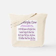 Purple Cow / Poem Tote Bag