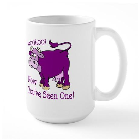Purple Cow / Poem Large Mug