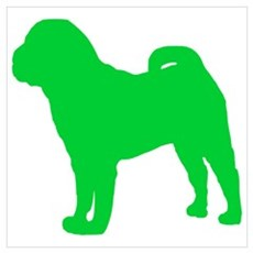 Shar Pei St. Patty's Day Poster
