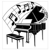 Piano Wrapped Canvas Art