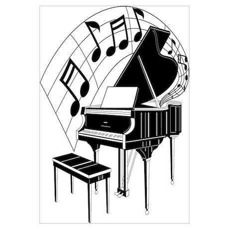 grand piano notes poster piano clip art cold piano clipart