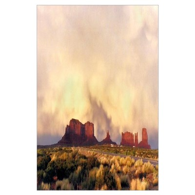 Monument Valley Storm Poster