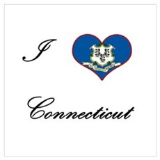 I Love (Heart) Connecticut Framed Print