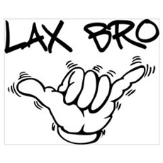 Hang Loose Lax Bro Framed Print