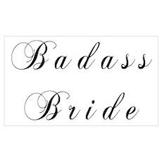 Badass Bride Script Poster