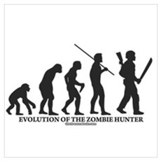 Evolution of the Zombie Hunter Poster