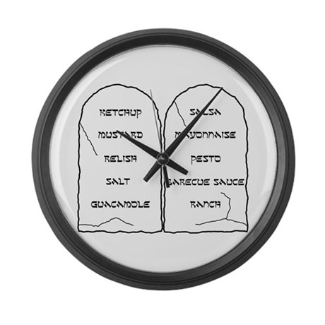 Ten Condiments Large Wall Clock