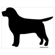 Black Lab Silhouette Poster