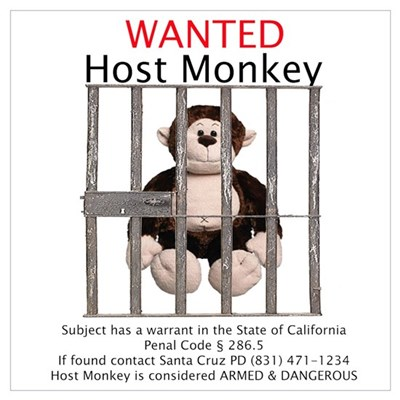 Host Monkey Wanted Canvas Art