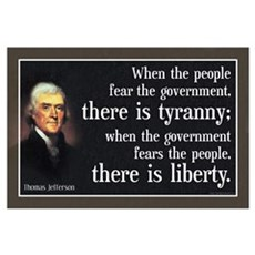 Jefferson: Liberty vs. Tyranny Framed Print