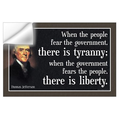 Jefferson: Liberty vs. Tyranny Wall Decal
