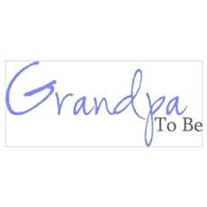 Grandpa To Be (Blue Script) Framed Print