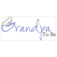 Grandpa To Be (Blue Script) Wall Decal