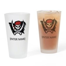 Pirate Flag Personalize! Drinking Glass