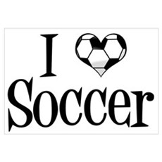 I Heart Soccer Poster