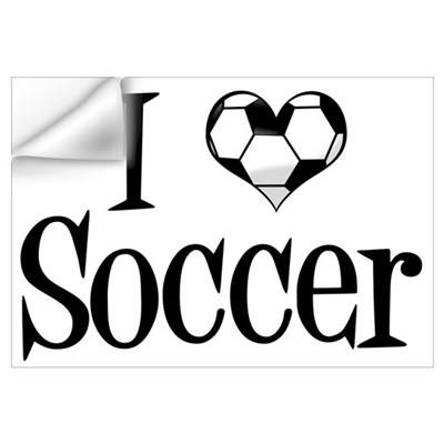 I Heart Soccer Wall Decal