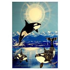 Cute Killer whale Wall Art