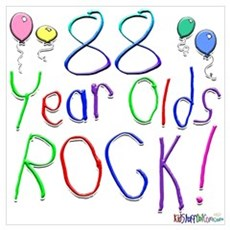 88 Year Olds Rock ! Poster