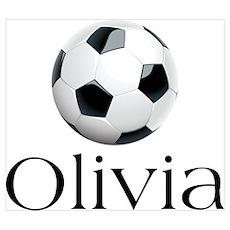 Olivia Soccer Poster