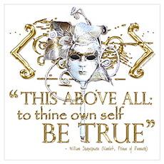"Hamlet ""Be True"" Quote Poster"