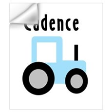 Cadence - Light Blue Tractor Wall Decal