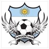 Argentina world cup soccer Wrapped Canvas Art
