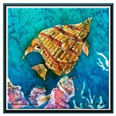 Beaked Butterflyfish<br>Sm 16x16 in. Poster