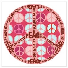 Pink - Peace on Earth Framed Print