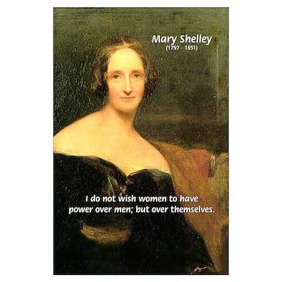 Novelist Mary Shelley Poster