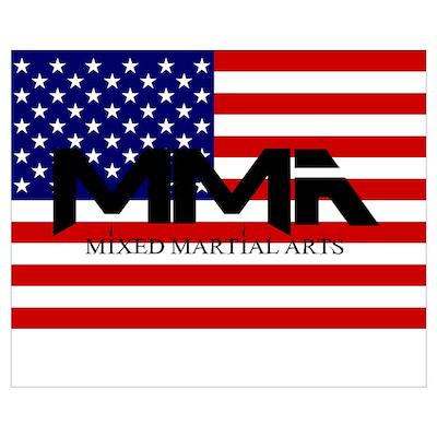 MMA USA Black Text Poster
