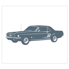 1967 Ford Mustang Coupe Poster