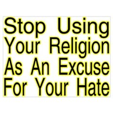 Stop Using Religion Poster
