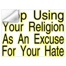 Stop Using Religion Wall Decal