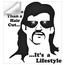 The Mullet Wall Decal