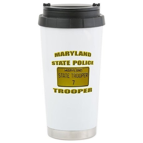 Maryland State Police Stainless Steel Travel Mug
