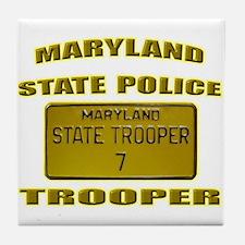 Maryland State Police Tile Coaster