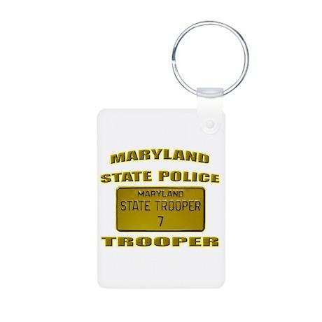 Maryland State Police Aluminum Photo Keychain