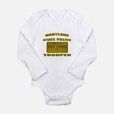 Maryland State Police Long Sleeve Infant Bodysuit