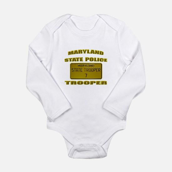 Maryland State Police Long Sleeve Infant Bodysuit