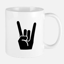 Rock Finger Symbol Mug